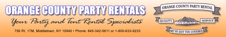 Orange County Party Rental - Your Party and Tent Rental Specialists